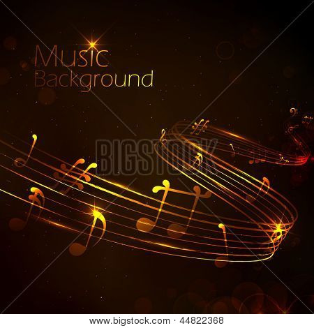 illustration of abstract music note for musical background