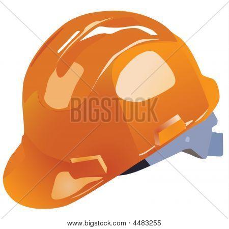 Orange Vector Hardhat Construction Work