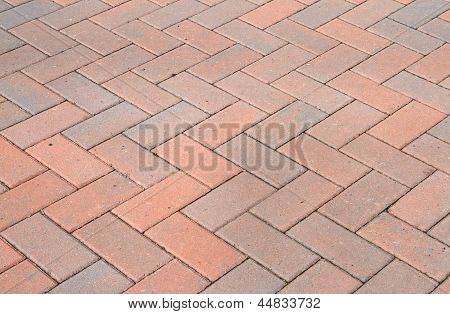 Red block pavior driveway