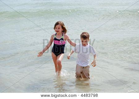Wading In The Ocean
