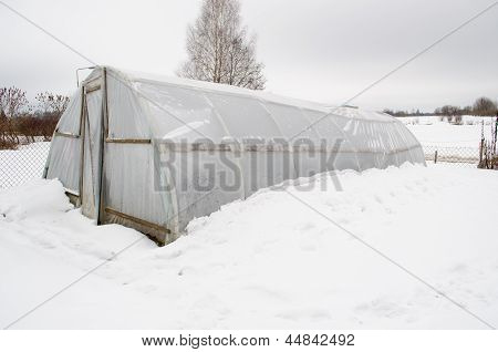 Diy Homemade Greenhouse Polythene Snow
