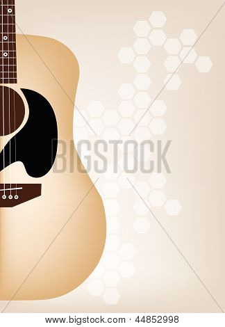 An Elegance Guitars on Beautiful Brown Background