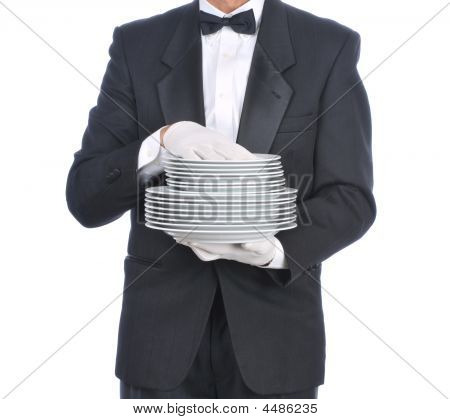 Butler With Plates