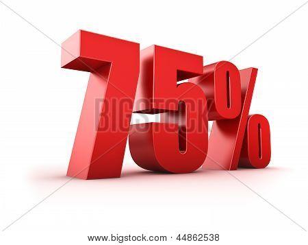 75 Por cento