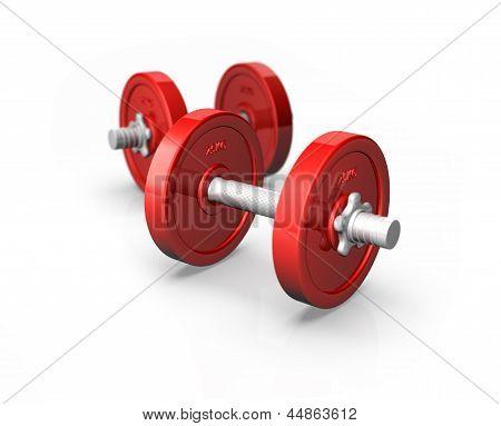 Red Dumbells