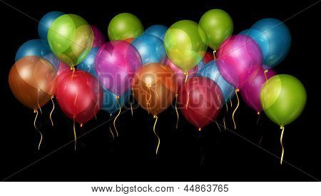 Colourful part balloons