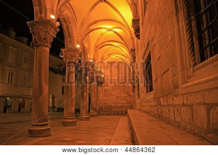 Sponza Palace At Night, Dubrovnik, Croatia