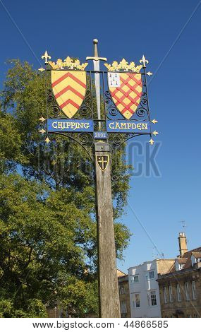Chipping Campden town sign