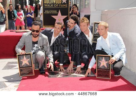 LOS ANGELES - APR 22:  Backstreet Boys at the ceremony for the