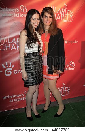 LOS ANGELES - APR 25:  Lauren Miller_Nia Vardalos arrives at the Second Annual Hilarity For Charity benefiting The Alzheimer's Association  at the Avalon  on April 25, 2013 in Los Angeles, CA