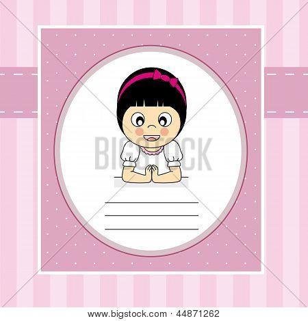 illustration of a child praying