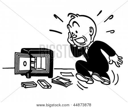 I've Been Robbed! - Retro Clip Art Illustration