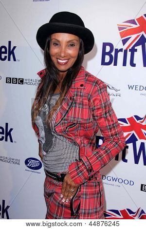LOS ANGELES - APR 23:  Downtown Julie Brown arrives at the 7th Annual BritWeek Festival