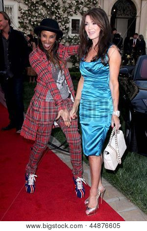 LOS ANGELES - APR 23:  Downtown Julie Brown, Lisa Vanderpump arrives at the BritWeek Festival