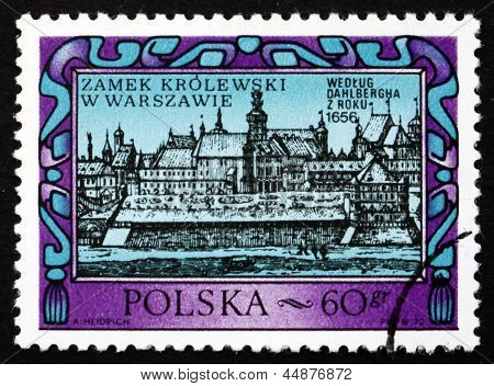 Postage Stamp Poland 1972 Warsaw Royal Castle, 1656