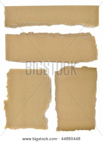 Set Of Textured Cardboard With Torn Edges