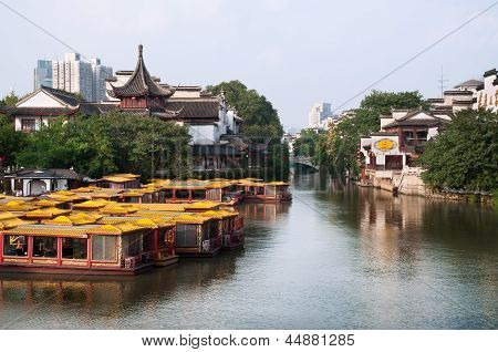 View from Wende Bridge, Confucius Temple Scenic Area, Nanjing, China