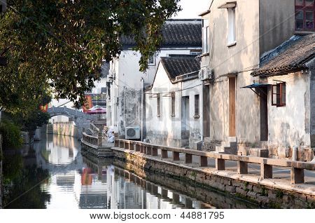 Early morning on Pingjianglu, Suzhou, China