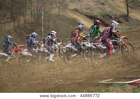 Start Of Motocross Race