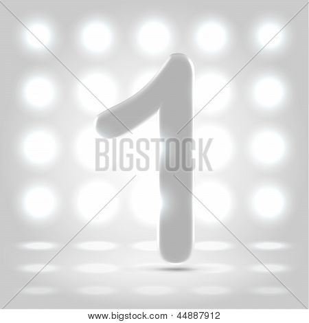 1 Over Lighted Background