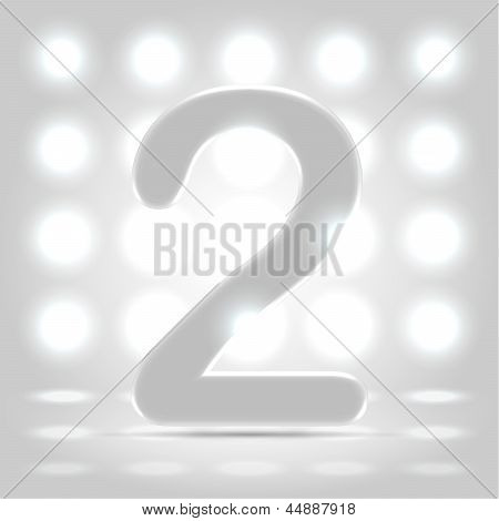 2 Over Lighted Background