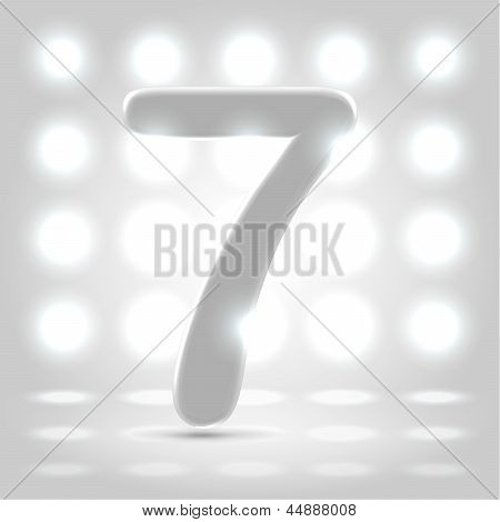 7 Over Lighted Background