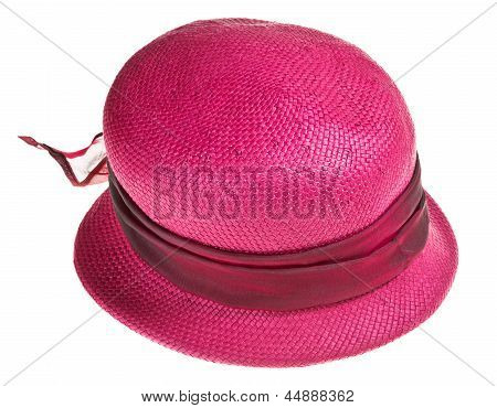 Woman Straw Pink Hat