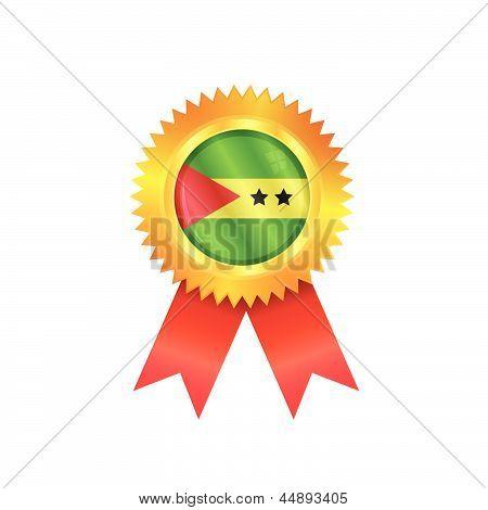 Sao Tome & Principe Medal Flag