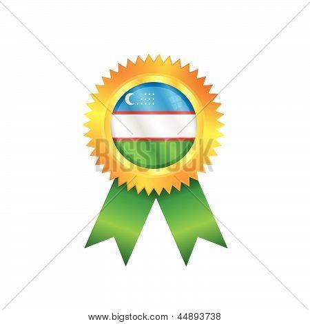 Uzbekistan Medal Flag