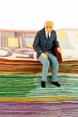 stock photo of bill-of-rights  - symbolic photo for retirement and old age - JPG