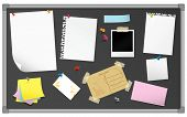 picture of bulletin board  - Bulletin board with stationery - JPG
