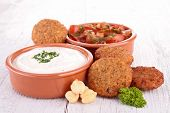 falafel and dips