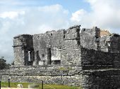 picture of conquistadors  - Mayan ruins of Tulum in Quintana Roo Mexico - JPG
