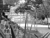 foto of conquistadors  - Mayan ruins of Chichen Itza in Yucatan Mexico - JPG