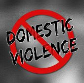 image of disrespect  - Stop domestic violence sign on a gradient background - JPG