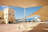 foto of olympic-games  - Outside Khalifa sports stadium in Doha Qatar Middle East where the 2006 Asian games were hosted and location for the proposed 2016 Olympic Games  - JPG