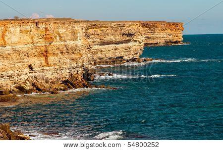 Coastal Sea Rocks Beautiful View Resort Landscape In Tarhankut, Crimea, Ukraine