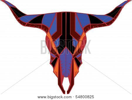 buffalo skull tattoo