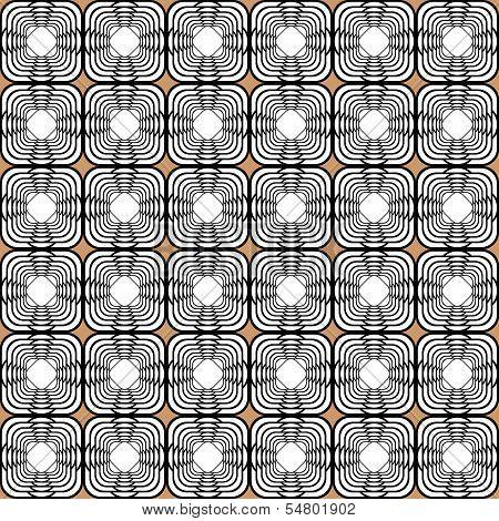 Design Seamless Monochrome Tetragon Pattern