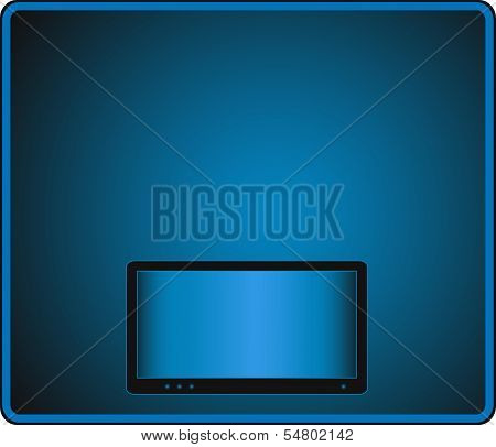 background with modern tv