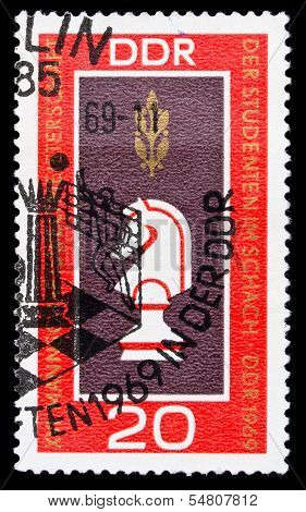 Ddr Stamp, Student Chess World Chapmionship