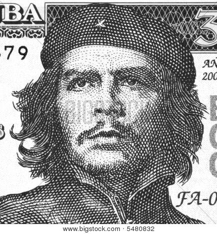 Ernesto Che Guevara On 3 Pesos 2004 Banknote From Cuba