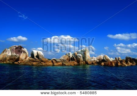 Rocks And Blue Sky