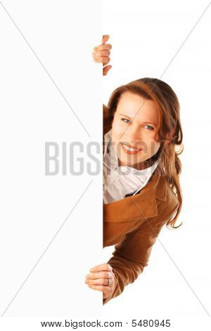 Portrait Of A Young Attractive Smiling Business Woman