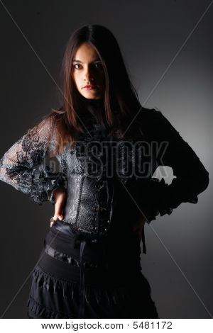 Fashion Portrait In Lace Corset