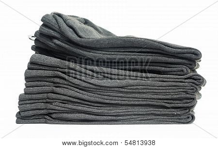 Tidy Grey Clothes With White Background