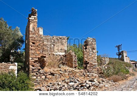 Old Abandoned Greek /turkish Village Of Doganbey, Turkey