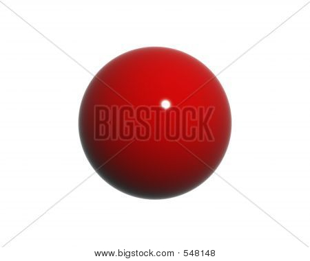 3d Single Red Orb