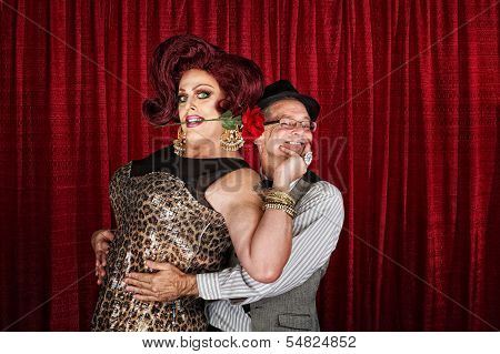 Happy Drag Queen With Partner