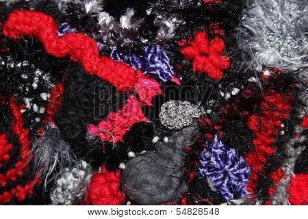 Textured Freeform Crochet Fabric